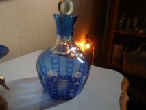 Cobalt Bohemanian Crystal Decanter & Shot Glass in Lawton, Oklahoma