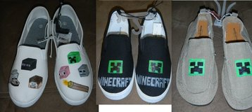 Custom Made Minecraft Shoes Adult & Children Sizes in Kingwood, Texas
