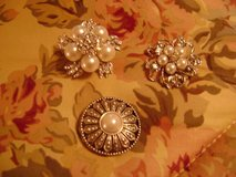 Bridal Gown Pearl & Rhinestone Brooches (Round One Is Sold) in Kingwood, Texas