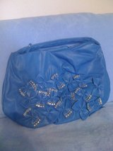 New,Big,Blue Bows&Studs Leather Purse in Fort Polk, Louisiana