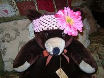 Handcrafted Infant Girls' Headband w/Big Flower (White Flower & Dark Pink Skinny Leaf Flower Sold) in Kingwood, Texas